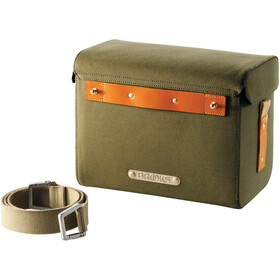 Brooks Isle of Skye Bolsa de manillar, green/honey